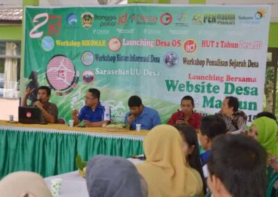Bersama Gedhe, Openmadiun Adakan Desa Literasi Madiun
